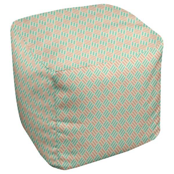 Avicia Stripe Diamonds Cube Ottoman by Latitude Run