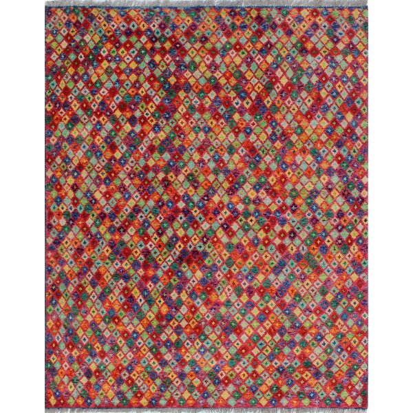 One-of-a-Kind Millender Lumusi Hand-Knotted Wool Red Are Rug by Bloomsbury Market