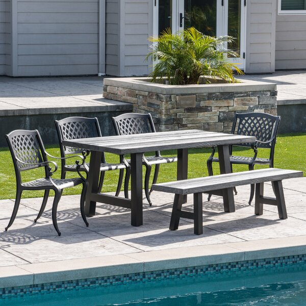 Cris 6 Piece Dining Set by Darby Home Co