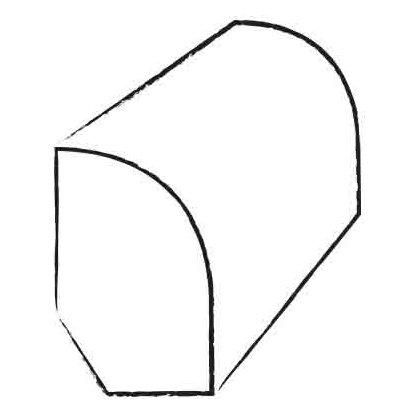 0.47 x 1.2 x 94 Tigerwood Base Shoe by Moldings Online
