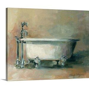 'Vintage Tub II' by Marilyn Hageman Painting Print on Canvas by Great Big Canvas