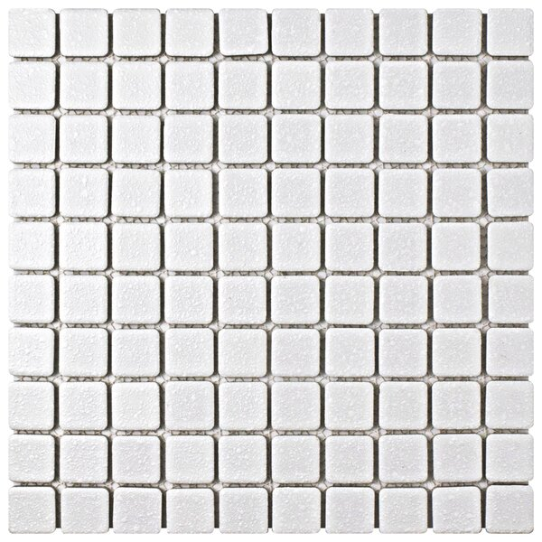 Minerva 1.1 x 1.1 Porcelain Mosaic Tile in White by EliteTile