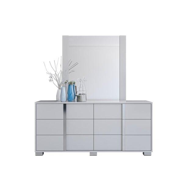 Gower 6 Drawer Double Dresser with Mirror by Orren Ellis