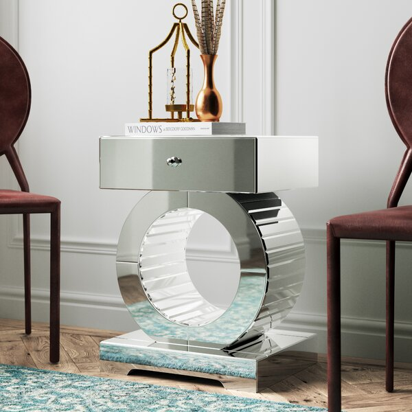 Hofstetter Mirrored End Table by Mercer41
