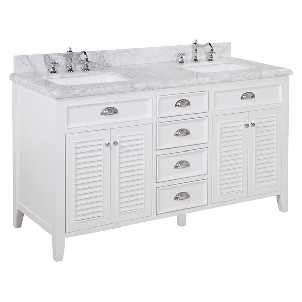 Savannah 60 Double Bathroom Vanity Set by Kitchen Bath Collection