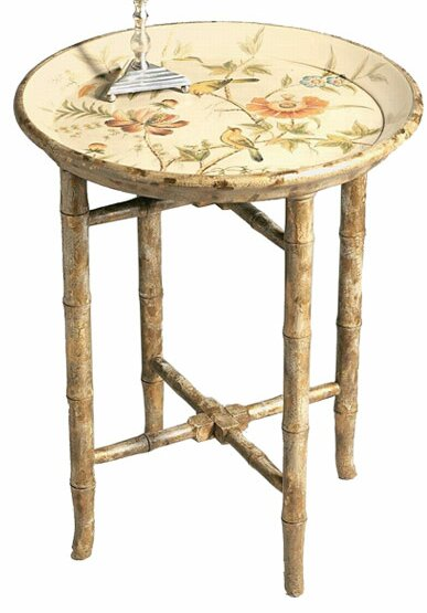 Hand Painted Wooden Tray Table by DessauHome