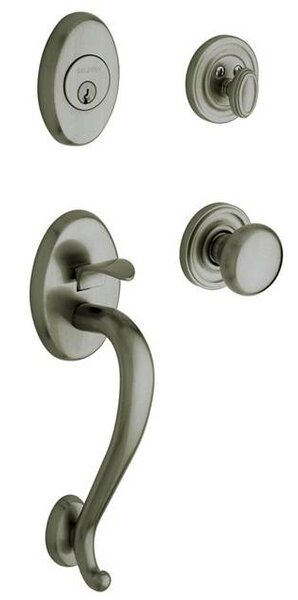 Logan Full Dummy Handleset with Interior Knob and Sectional Trim by Baldwin