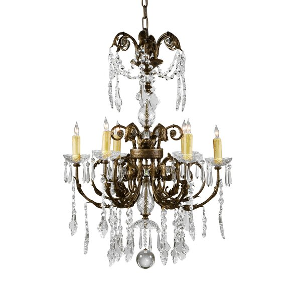 6 - Light Candle Style Empire Chandelier by Wildwood Wildwood