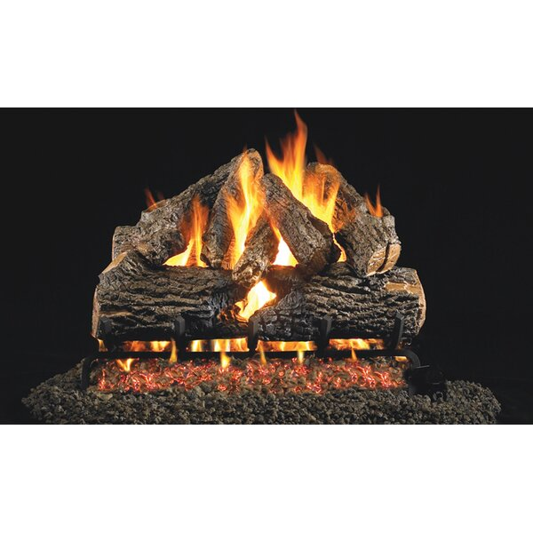 Charred Oak Natural Gas Logs By Real Fyre