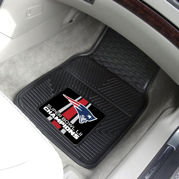 New England Patriots Vinyl Car Mat Kitchen Mat (Set of 2) by FANMATS