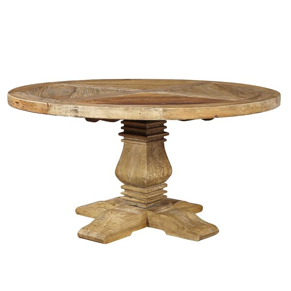 Rosedale Round Solid Wood Dining Table by Loon Peak