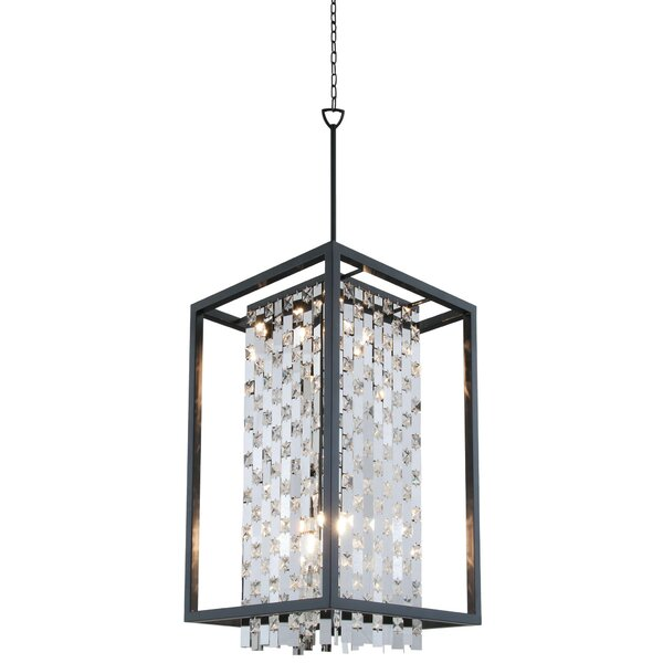 Whitfield 6 - Light Shaded Square / Rectangle Chandelier by Rosdorf Park Rosdorf Park