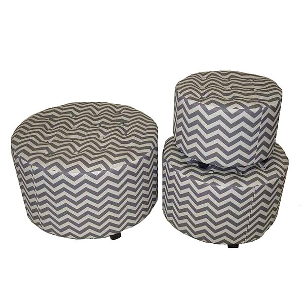 Wolken 3 Piece Ottoman Set by Brayden Studio
