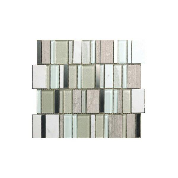 Rio 12 x 12 Glass Mosaic Tile in Gray by Kellani
