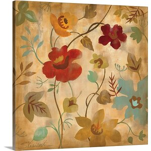 'Antique Embroidery II' by Silvia Vassileva Painting Print on Canvas by Canvas On Demand