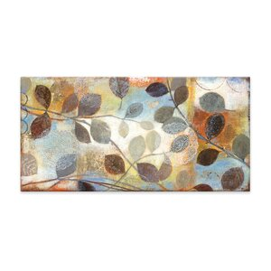 Autumn Muse Textured Painting Print on Canvas by Artefx Decor