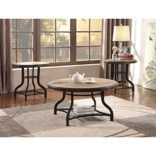 Catarina Solid Wooden 3 Piece Coffee Table Set by Gracie Oaks