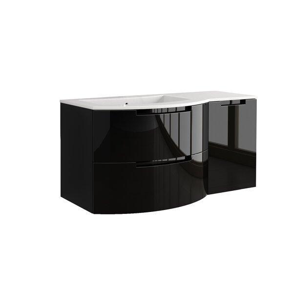 Oasi 43 Single Right Side Cabinet and Shelf Vanity Set by LaToscana