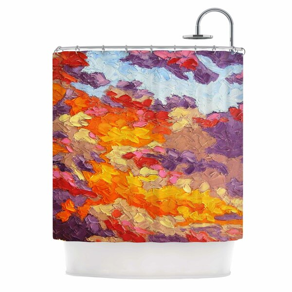 Evening Multicolor Sky by Jeff Ferst Sunset Sky Shower Curtain by East Urban Home
