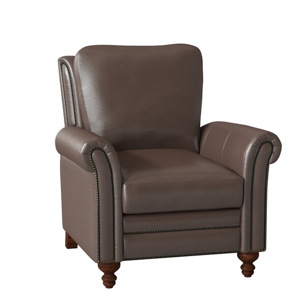Richardson High Leg Leather Recliner By Bradington-Young