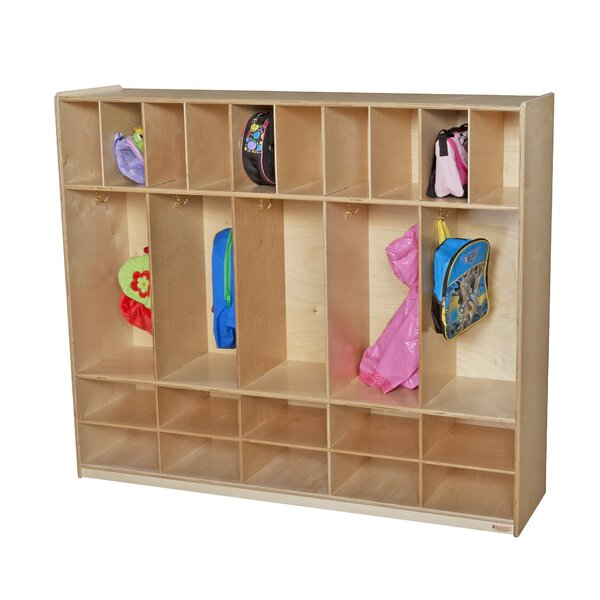 4 Tier 5 Wide Coat Locker by Wood Designs
