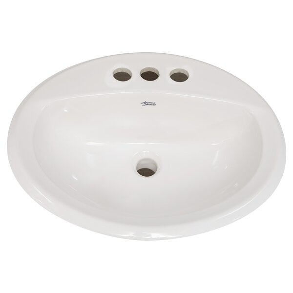 Antiquity Ceramic Circular Drop-In Bathroom Sink with Overflow by American Standard
