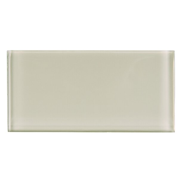 3 x 6 Glass Subway Tile in Beige by Multile