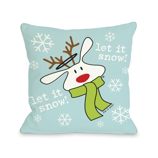 Doggy Décor Let it Snow Dog Throw Pillow by One Bella Casa