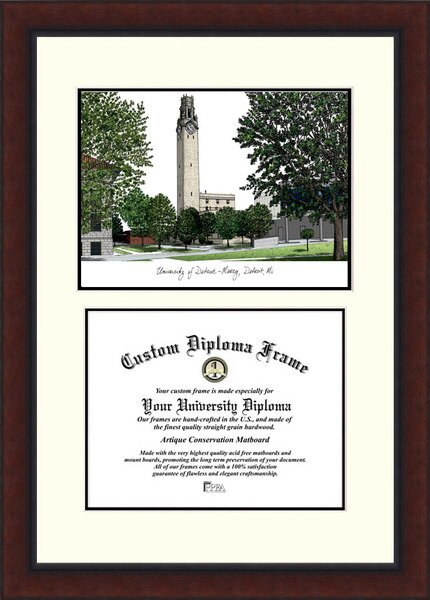NCAA Detroit University, Mercy Legacy Scholar Diploma Picture Frame by Campus Images