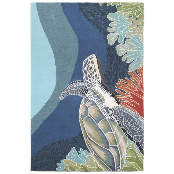 Clowers Hand-Tufted Blue Indoor/Outdoor Area Rug by Highland Dunes