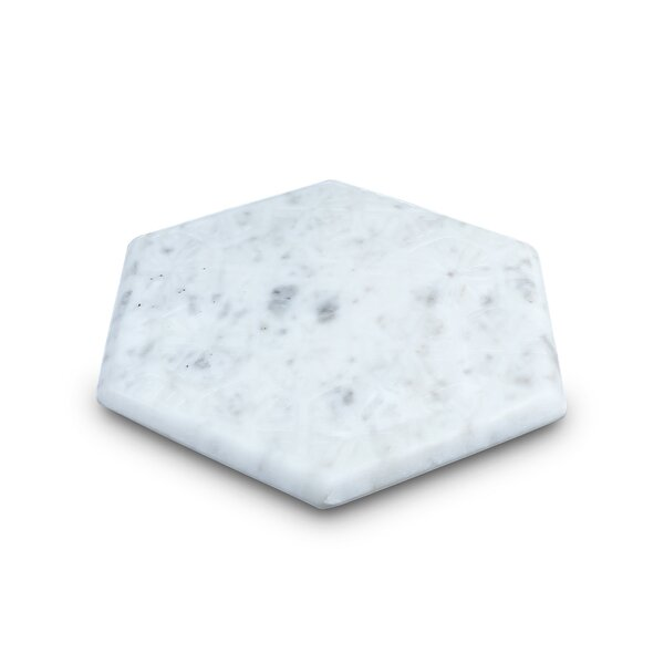 Hamler Hexagon Marble Trivet by Wrought Studio