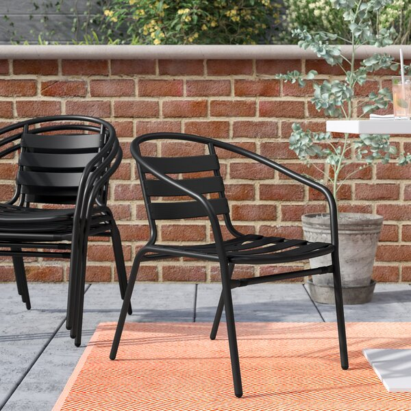 Corrales Stacking Patio Dining Chair (Set of 4) by Mercury Row