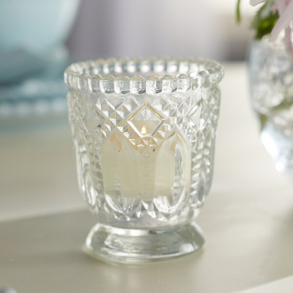 Vintage Glass Candle Holder (Set of 6) by Lark Manor