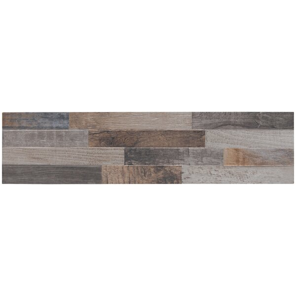 Keywood Ledger 6 x 24 Porcelain Field Tile by MSI