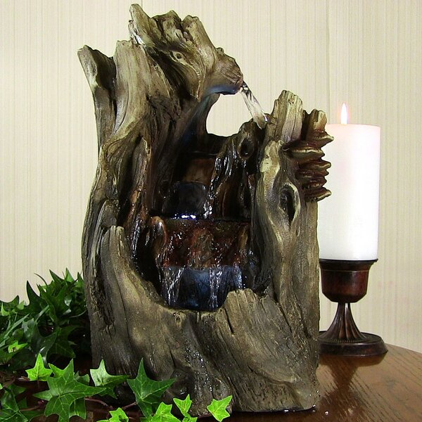 Resin Cascading Caves Waterfall Tabletop Fountain with Light by Wildon Home ®