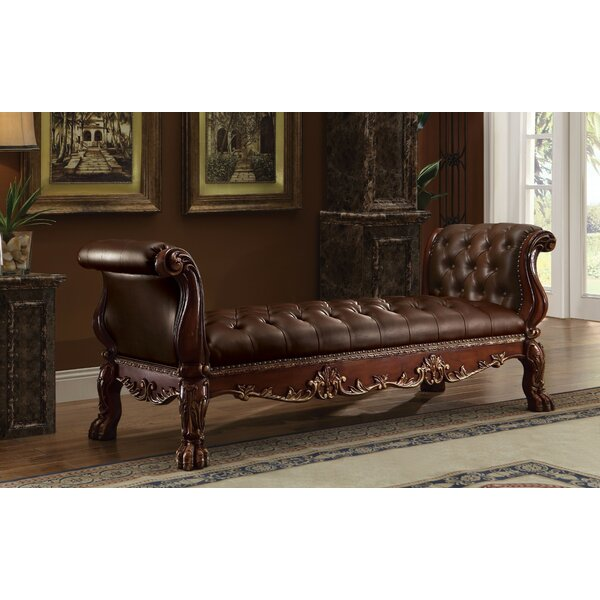 Frederic Genuine Leather Bench by Astoria Grand