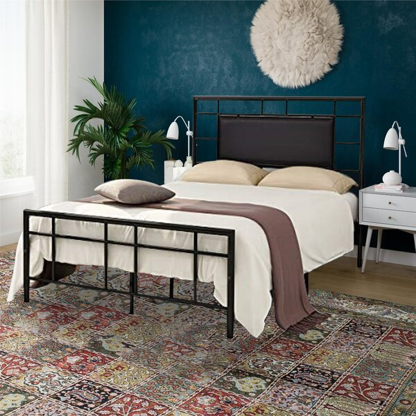 Allegheny Metal Upholstered Platform Bed by Ebern Designs