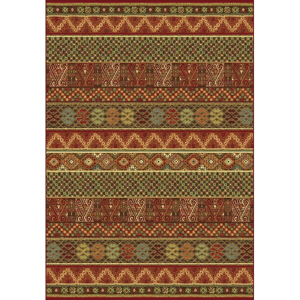 Berwick Rust/Green Area Rug by World Menagerie