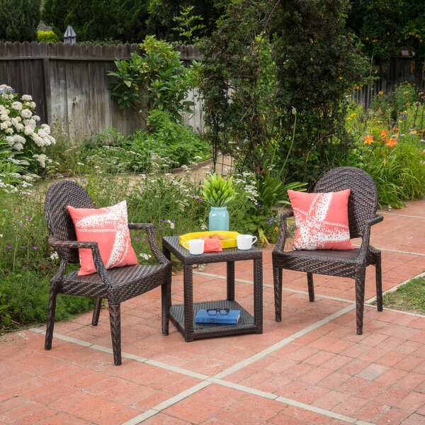 Winland 3 Piece Rattan Seating Group by Wrought Studio