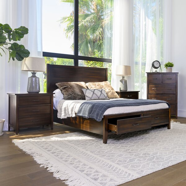 Sartell Platform Solid Wood 4 Piece Bedroom Set by Breakwater Bay