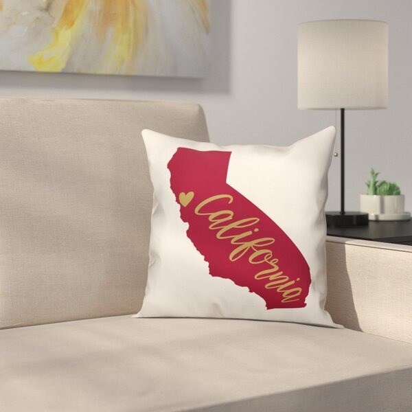 California Pride Throw Pillow by East Urban Home