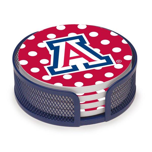 5 Piece University of Arizona Dots Collegiate Coaster Gift Set by Thirstystone