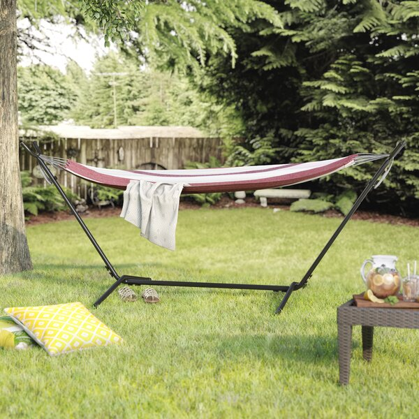 Jaqueline Outdoor Portable Hammock with Stand by Latitude Run