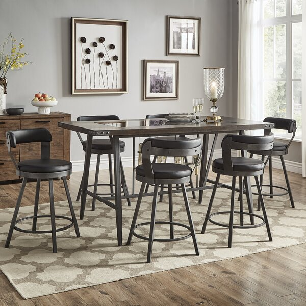 Craighead 7 Piece Counter Height Dining Set by Williston Forge Williston Forge