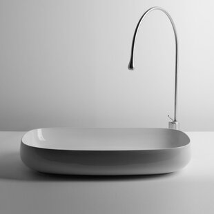 Comparison Seed Ceramic Oval Vessel Bathroom Sink ByWS Bath Collections