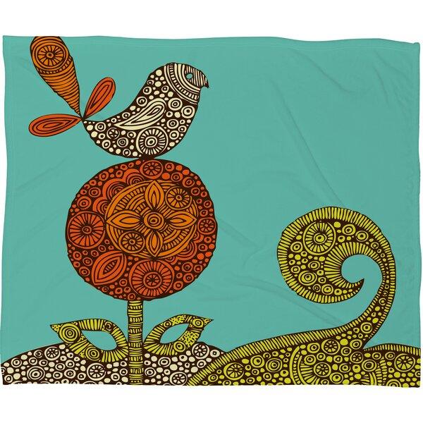 Valentina Ramos Bird in The Flower Throw Blanket by Deny Designs