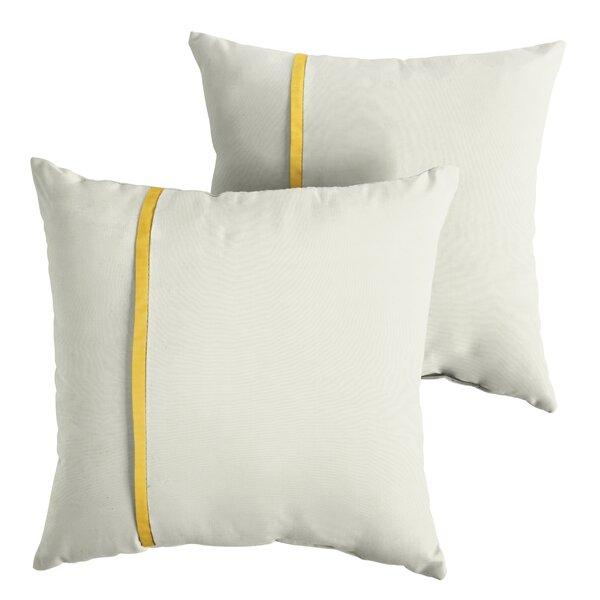 Fosdick Indoor/Outdoor Sunbrella Throw Pillow (Set of 2) by Charlton Home