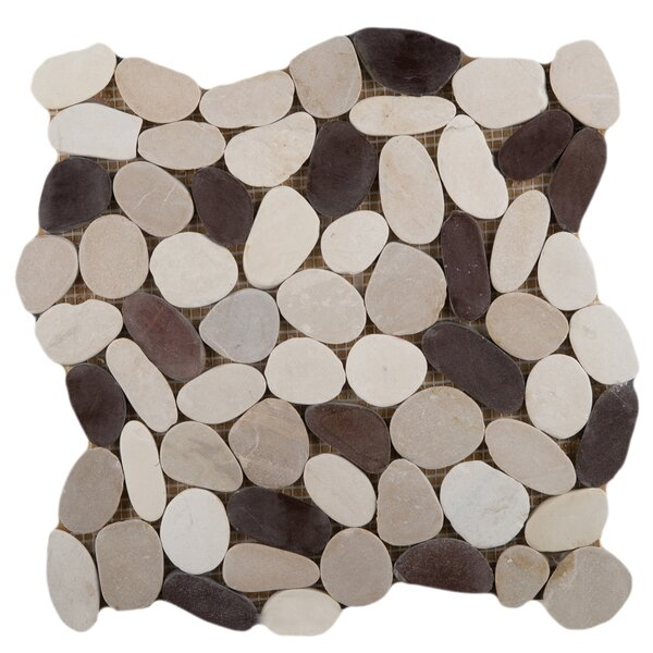 Flat Venetian Pebbles 12 x 12 Mosaic Tile in Gelato Blend by Emser Tile