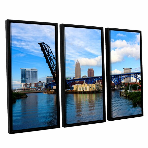 Cleveland 12 by Cody York 3 Piece Framed Photographic Print on Canvas Set by ArtWall