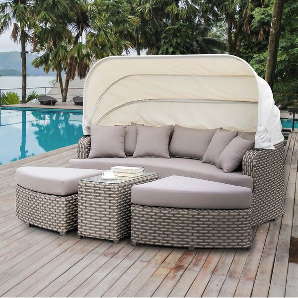 Overbeck Patio Daybed with Cushion by Latitude Run